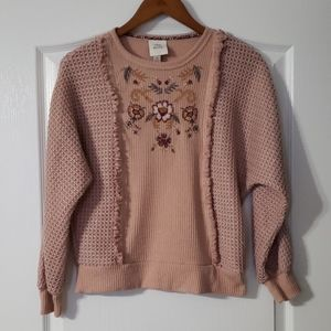 Knox Rose Embroidered Dolman Sleeve Top